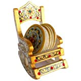 Indian Marble Chair Designed Table Coasters Beer Bar Coaster Jaipur Gold Meenakari Work