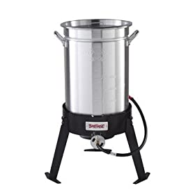 Barbour Int'l 30Qt Turkey Fryer W/Rack 3066A