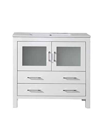 Virtu USA Dior 36 Single Bath Vanity Cabinet, White