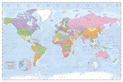 World Map Atlas Cartography Poster 0000000000628