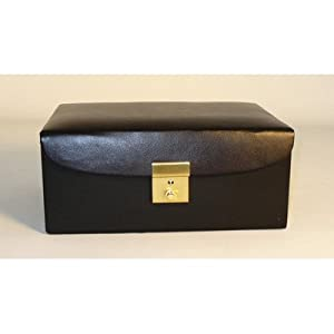 Worldwise Imports Divided Black Vinyl Chess Box for Up to 4.25in King