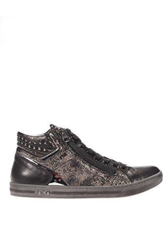 A616040D-100.Sneaker alta.Nero.37