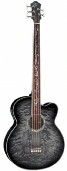 Michael Kelly Dragonfly 5 String Acoustic Bass, Smoke Burst