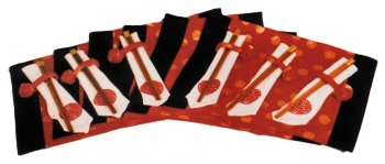 Asian placemat set, chinese red - Buy Asian placemat set, chinese red - Purchase Asian placemat set, chinese red (Reorient, Home & Garden, Categories, Kitchen & Dining, Kitchen & Table Linens, Place Mats, By Style, Asian Influence)