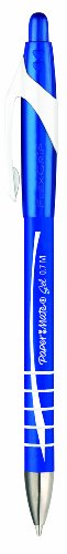 Paper Mate S0898921 - Bolígrafo con tinta de gel (tamaño mediano, 3 unidades), color negro/azul/rojo