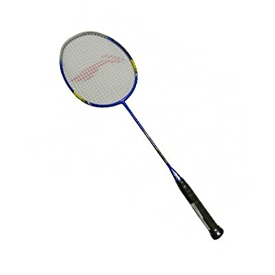 Li Ning SS 98 III Blue/Yellow Badminton Racquet with Black T-Shirt, Small