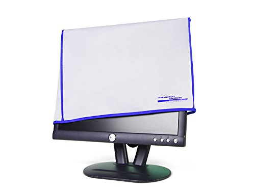 """Dust and water resistant silky smooth antistatic vinyl LCD Monitor Dust Cover for 21-22"""" LCD (21W x14H x3D)"""