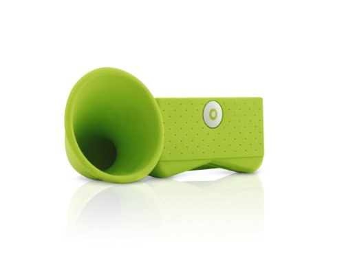 PORTABLE AMP FOR IPHONE HORN STAND GREEN (PORTABLE AUDIO/CELLULAR ACCESSORIES)