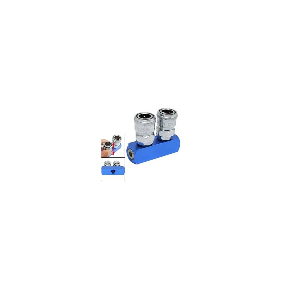 2 Pass Air Hose Quick Connect Coupling Coupler Tool