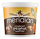 Meridian Natural Crunchy Peanut Butter - No added sugar - 1kg
