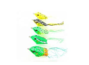 JSM Frogs Fishing Lures Baits 5PIECES! by LURES SPINNERS