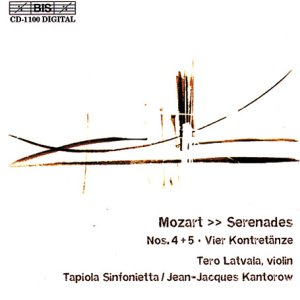 Serenades Nos. 4 and 5, Vier Kontretanze (Kantorow, Latvala)