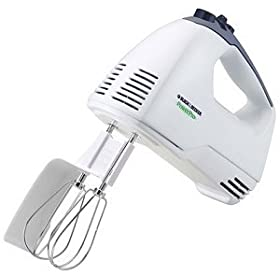 Black & Decker MX300 Power Pro Hand Mixer, White