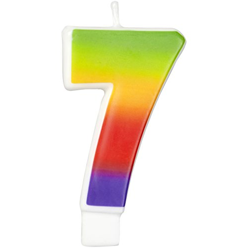 Wilton W2811-1046 Rainbow Candle, Numeral 7 - 1