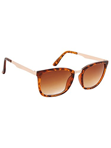 Olvin Unisex Brown Oval Sunglasses (OL335-04)