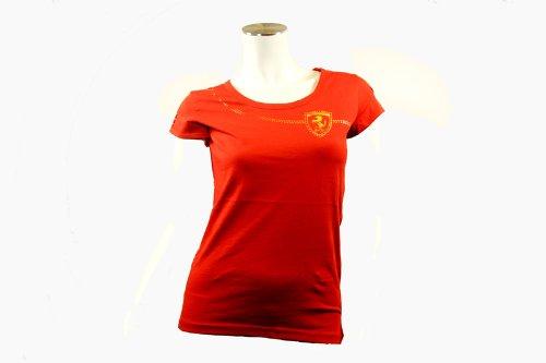 Puma W FL FERRARI LOGO TEE Rot Women T-Shirt Mode