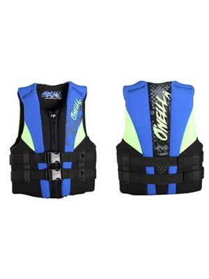 O'Neill Wetsuits Youth USCGA Vest  (Black/Pacific/DayGlo, )