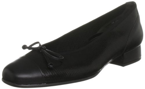 Gabor Women's Emporium Leather Patent Black Ballet 36.102.97 6 UK