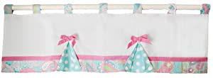 My Baby Sam Pixie Baby Curtain Valance, Aqua