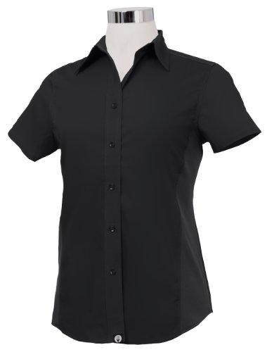 Chef Works CSWV-BLK-2XL Women Universal Shirt, Black / Black, 2XL