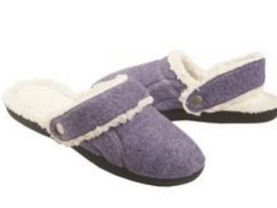 Cheap Isotoner Womens Purple Flipables Clog Style Slippers Fleece & Fur (081712-93)