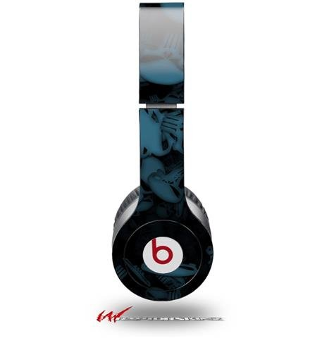 Skulls Confetti Blue Decal Style Skin (Fits Genuine Beats Solo Hd Headphones - Headphones Not Included)