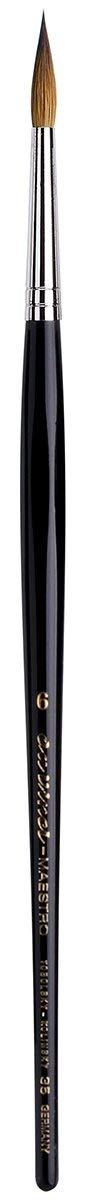 da Vinci Watercolor Series 35 Maestro Paint Brush, Round Long Taper Kolinsky Red Sable, Size 6 (35-06) (Tamaño: Size 6)