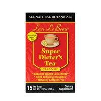 Laci Le Beau Super Dieters Tea All Natural Botanicals, All Natural Botanicals 15 Bags (Pack of 4)