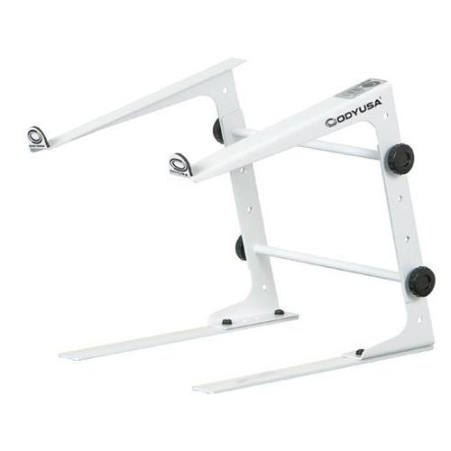 Odyssey Lstands White Laptop Stand / Stand Alone (Dj Laptop Stand White compare prices)