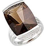 Sterling Silver 17 5/8 ct. Smoky Quartz Ring