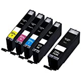 ***FREE POST**** 5PK High Capacity inks for Canon PIXMA iP7250, MG5450, MG5650, MG5550, MG6350, MG6450, MG7150, MG7750, MX725, MX925 Printers - ONE SET by BVH Direct