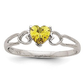 Genuine IceCarats Designer Jewelry Gift 14K White Gold Peridot Birthstone Ring Size 6.00