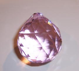 20mm Pink Crystal Ball Prisms