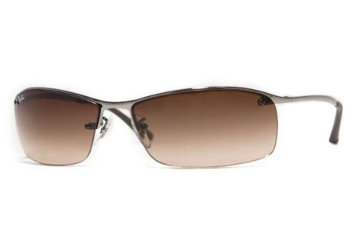 Ray Ban Sonnenbrille Top Bar Square RB 3183 Gradient Brown