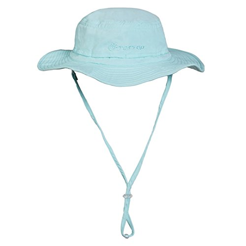 AiSi® Outdoors Large Brimmed Sun Protection UV Protection Quick-Drying Hat for Fishing Walking Travelling Camping(Sky blue)