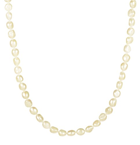 8-9mm White Freshwater Cultured Baroque Pearl Necklace 32