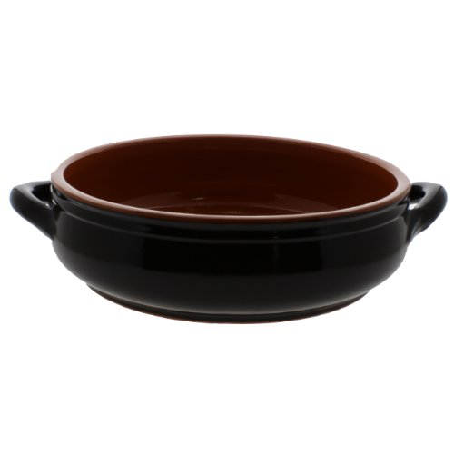 Coli Bakeware CL16BR--C43 Italian Ceramic Round Cazuela Baker Pot, 3.25-Quart, Brown