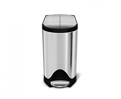 simplehuman Butterfly Step Trash Can, Stainless Steel, 10 L / 2.6 Gal (Butterfly Open Garbage Can compare prices)