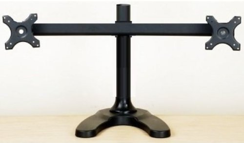 EZM Deluxe Dual Monitor Mount Stand Free Standing up to 28