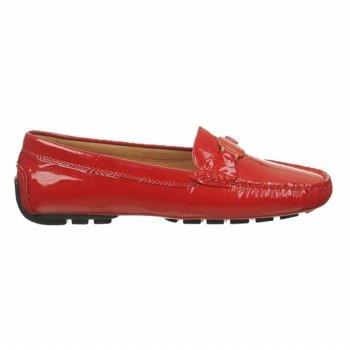 Lauren Ralph Lauren Women'S Carley Loafer,Bright Red,7 B Us