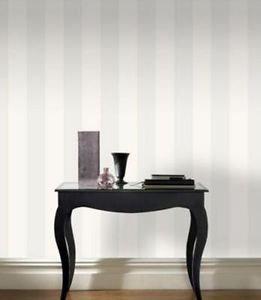 Rasch Glitter Stripe Wallpaper - White by New A-Brend