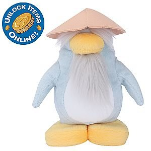 Club Penguin Sensei 6-1/2 Inch Scale Plush Toy with Online Code