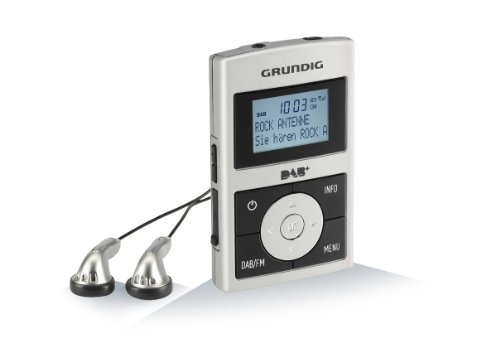 Micro 75 Taschenradio (DAB+ Tuner, RDS) inkl. eingebauter Akku silber/schwarz