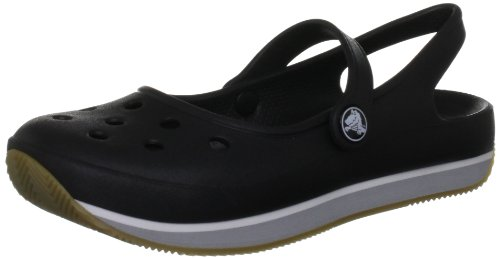 crocs Crocs Retro Mary Jane W 14134-02G-413, Damen Ballerinas, Schwarz (Black/Light Grey 02G), EU 34/35