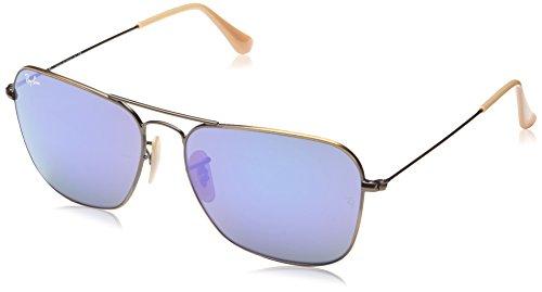 Ray-Ban Mens Sunglasses (RB3136) Bronze Matte/Purple Metal - Non-Polarized - 58mm