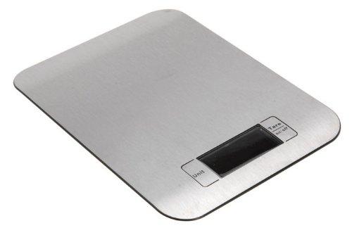 Balance digitale de Cuisine - LCD - Ultraplate - En acier inoxydable - (1 - 5000g)
