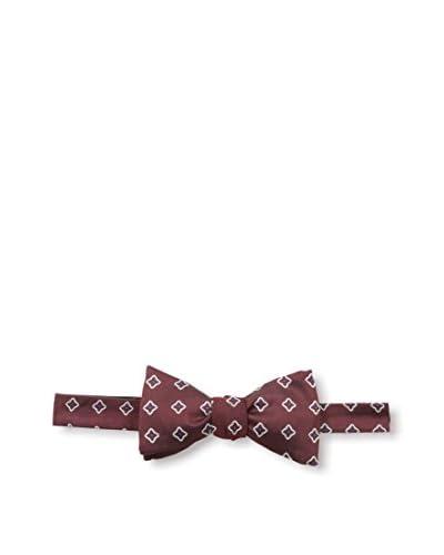 Franklin Tailored Men's Diamond Bow Tie, Burgundy