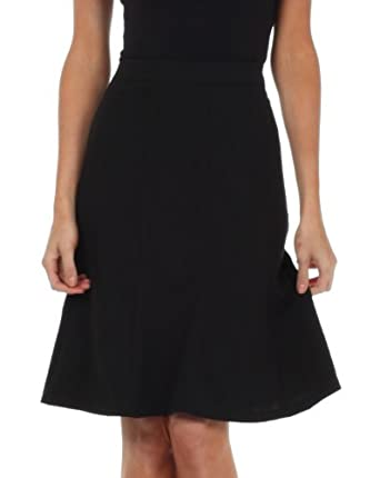IM43410 - Knee Length A-Line Skirt - Black / S