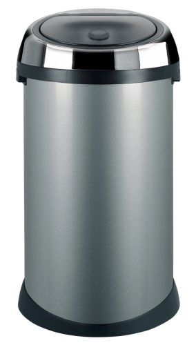 Brabantia Touch Bin, 50 Litre, Metallic Grey