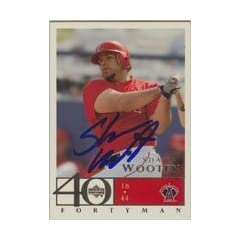 Shawn Wooten Anaheim Angels 2003 Upper Deck Fortyman Autographed Hand Signed Trading...
